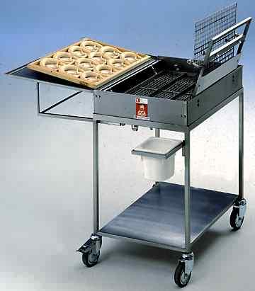 Машина для обработки брецелей щелочью ручная